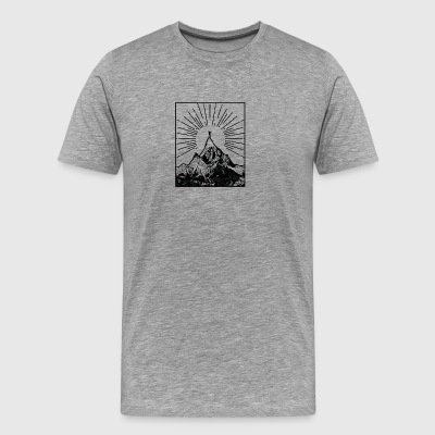 Mountain - Premium-T-shirt herr