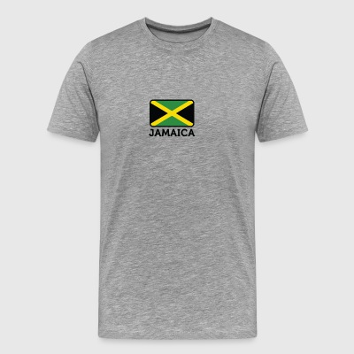National Flag Of Jamaica - Premium-T-shirt herr