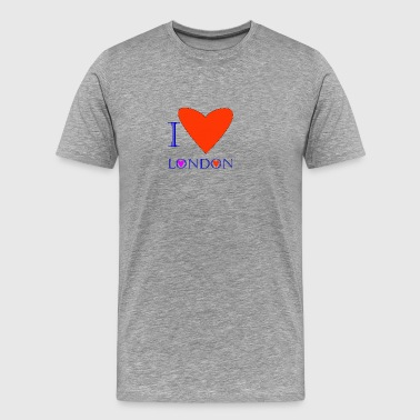 I Love London 1B - Men's Premium T-Shirt