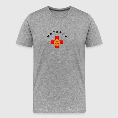 Halloween. Ambulans. Läkare. Cross. Rescue. Pumpa. - Premium-T-shirt herr