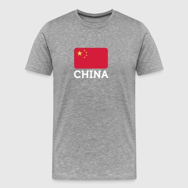 Drapeau national de Chine - T-shirt Premium Homme