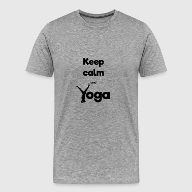 Keep calm and Yoga - Men's Premium T-Shirt