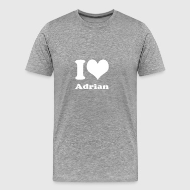 I love Adrian - Men's Premium T-Shirt