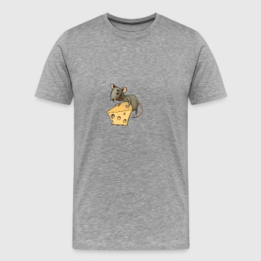 Fiese mouse rodent mouse vermin rodent cheese - Men's Premium T-Shirt