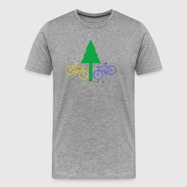 PureRider fir bike Bunt - Men's Premium T-Shirt