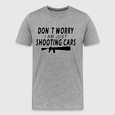 Shooting Cars - Premium-T-shirt herr