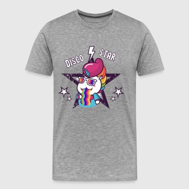 Disco Star Unicorn Rainbow Vomit für Kinder, Baby - Männer Premium T-Shirt