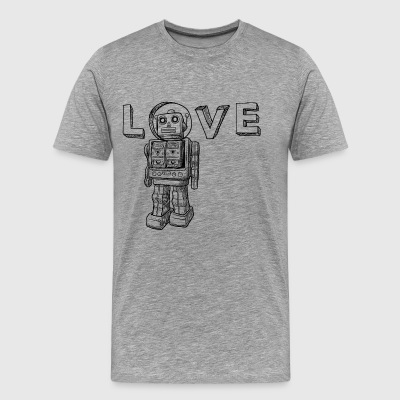 Love Robots Gifts for kids, boy, girl, adults, dad - Men's Premium T-Shirt