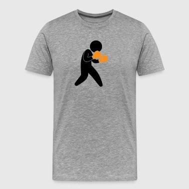 A Boxer Exercising In The Ring - Men's Premium T-Shirt
