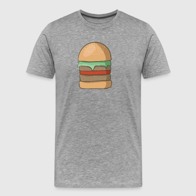 hamburger - Premium T-skjorte for menn