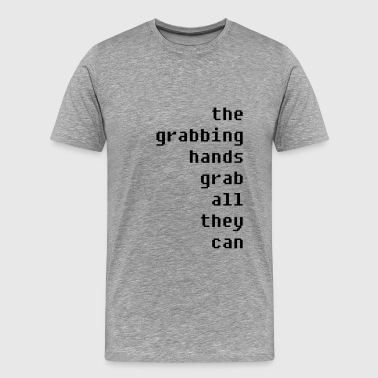 grabbing hands - Men's Premium T-Shirt