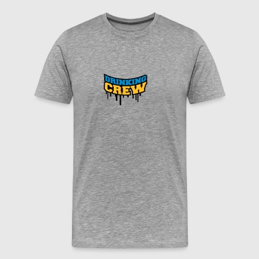 Drinking Crew Graffiti - Men's Premium T-Shirt