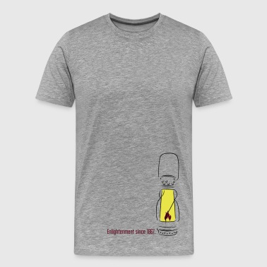 Enlightenment Lampe - Männer Premium T-Shirt
