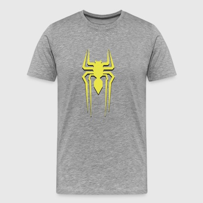 spiderman gul - Premium T-skjorte for menn