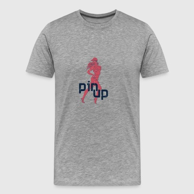 PIN UP SPORT GIRL VINTAGE - Mannen Premium T-shirt