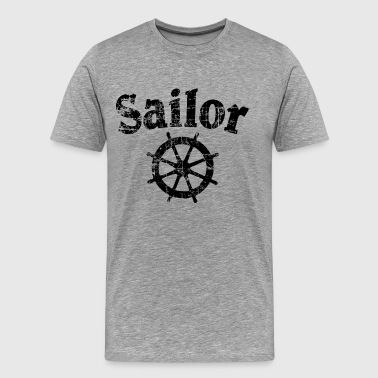 Sailor Wheel Vintage Sailing Design (FR) - T-shirt Premium Homme
