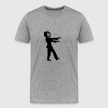 Zombie TV - Men's Premium T-Shirt