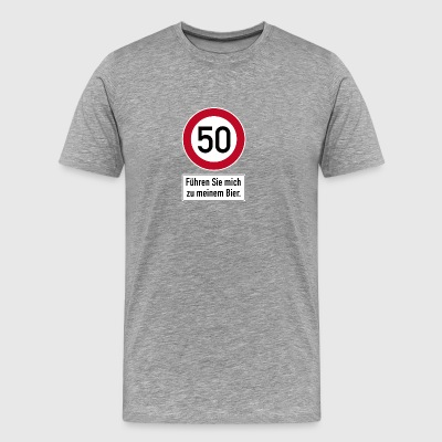50th birthday anniversary Lead me beer thirst - Men's Premium T-Shirt