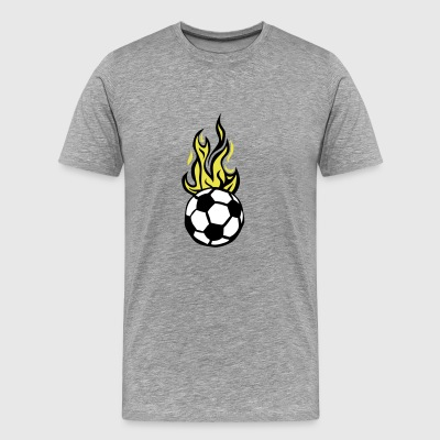 soccer ball soccer flame fire flame - Men's Premium T-Shirt
