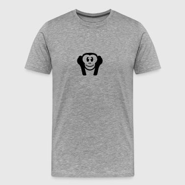 Nothing hearing deaf- wise monkey monkeys 3 - Men's Premium T-Shirt