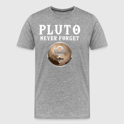 Funny Pluto Never Forget T-shirt - Herre premium T-shirt