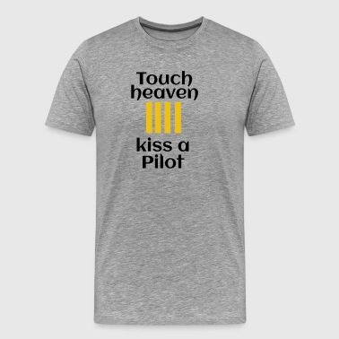 kiss a pilot - Men's Premium T-Shirt