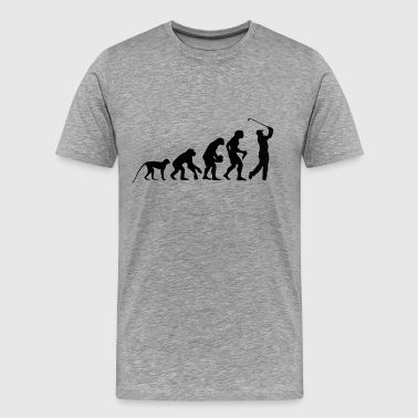 Evolution golfare - Premium-T-shirt herr