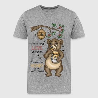 Brown Bear Uncle Samson versjon 3 - Premium T-skjorte for menn