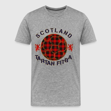 tartan football scotland red - Men's Premium T-Shirt