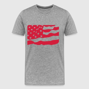 USA Flag / Flag / United States / Vector - Men's Premium T-Shirt