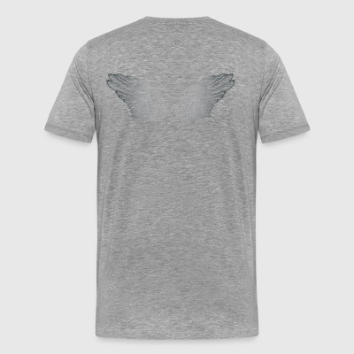 Silvery Angel Wings - Mannen Premium T-shirt
