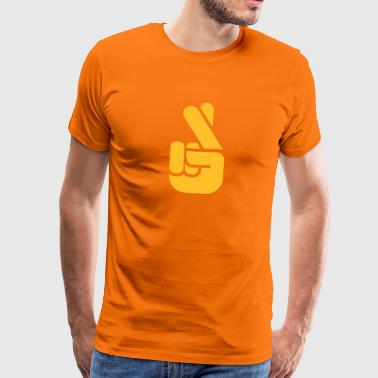 Crossed Fingers - Mannen Premium T-shirt