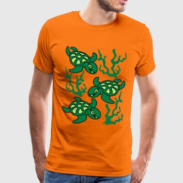 Turtles and Seaweed - Premium T-skjorte for menn