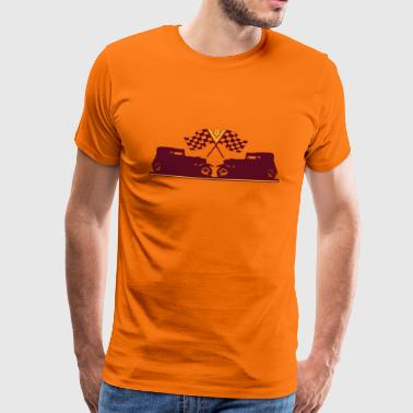 Hot Rod - Premium-T-shirt herr