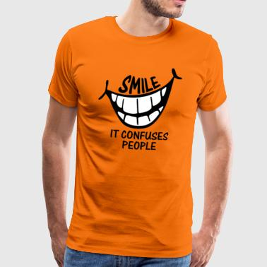 Smile It Confuses People - Men's Premium T-Shirt