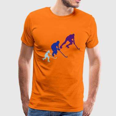 rink hockey silhouette player6 animation - T-shirt Premium Homme