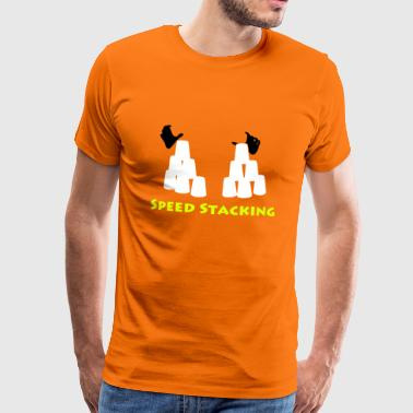 Speed Stacking by Lola - Männer Premium T-Shirt