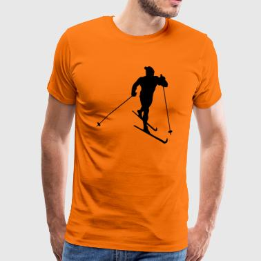 skiing winter sport - Premium T-skjorte for menn