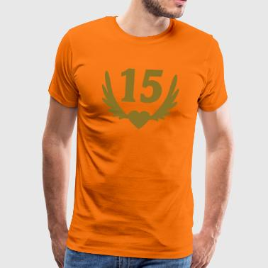 15 Number heart wings - Men's Premium T-Shirt