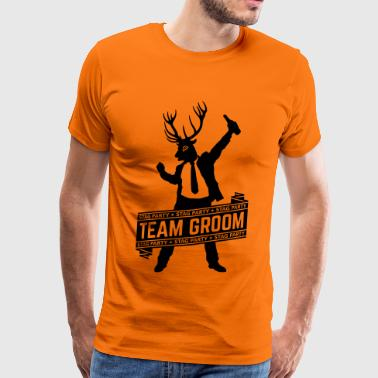 Team Groom / Stag Party (JGA / 1C) - Männer Premium T-Shirt