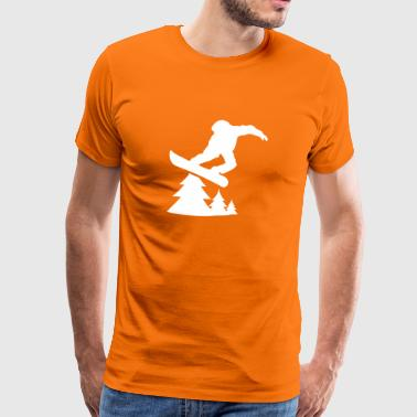 snowboarding tree 1c - Men's Premium T-Shirt