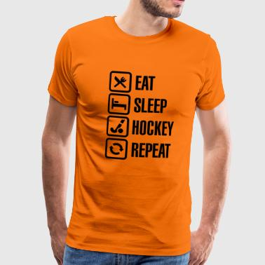 Eat Sleep Hockey Repeat - Maglietta Premium da uomo