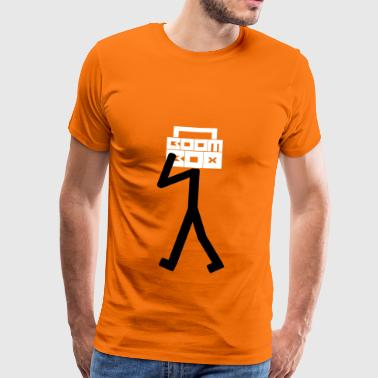 Boom Box Stick Man - Männer Premium T-Shirt