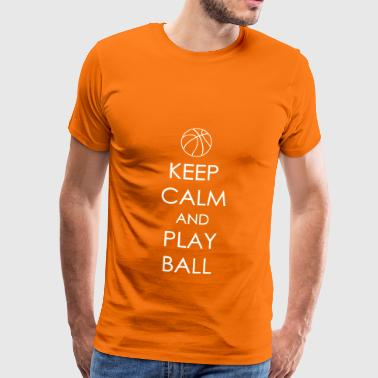 Keep calm and play Football - T-shirt Premium Homme