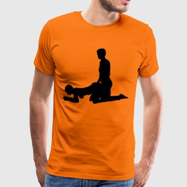 sex position - Premium-T-shirt herr