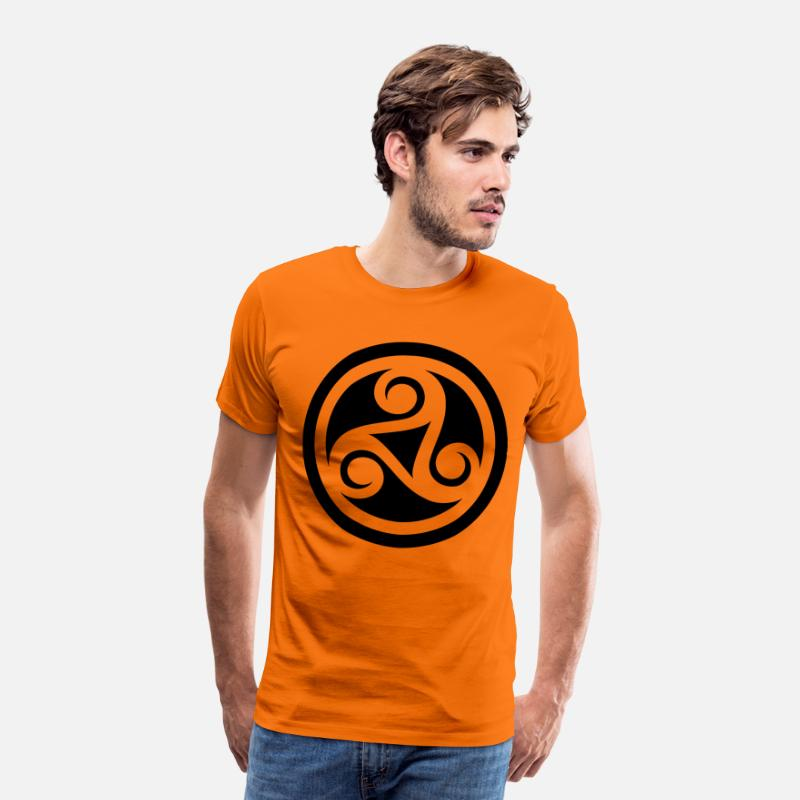 Celtic T-Shirts - Celtic - Men's Premium T-Shirt orange
