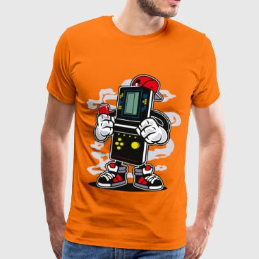 Cartoon Character ZOCKER BOY - cartoon comic character figure motive - Men's Premium T-Shirt