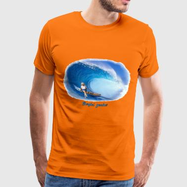 surfin genius - Premium T-skjorte for menn