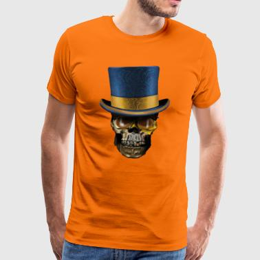 Skull with Top Hat - Premium-T-shirt herr