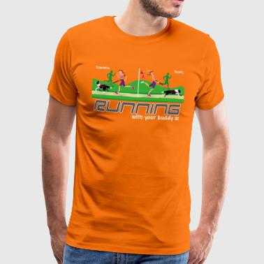 Canicross Running With your Buddy - Camiseta premium hombre